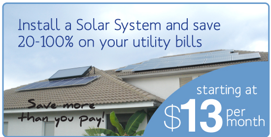 Install a solar system and save up to 100% on utility bills