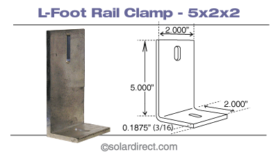 L-foot rail clamps