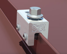 S-5! Non-Penetrating Double Folded Metal  Roof 