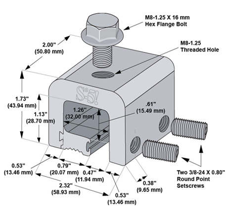 S-5-H dimensions