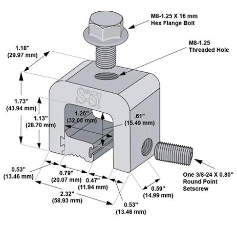S-5-H mini dimensions