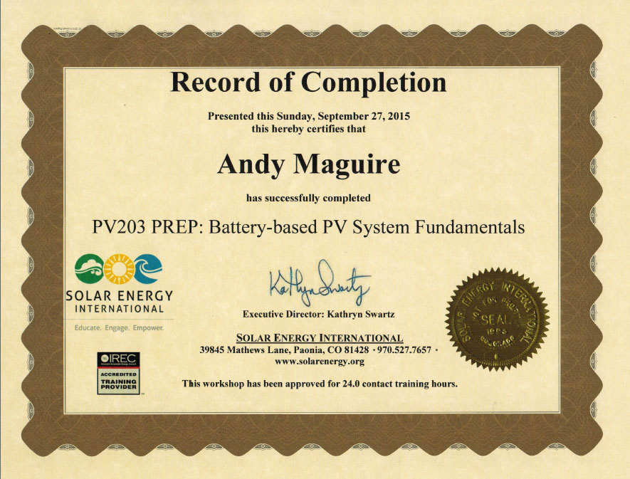 Solar Direct Certificates And Licenses Highly Qualified