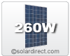 Hyundai 260 Watt Solar Module. Discounts are available for larger quantities - as low as $0.88/W. Free Shipping