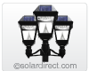 "Imperial II Outdoor Solar LED Triple Lamp Post (Includes 78"" Post) GS-97NT - FREE SHIPPING"