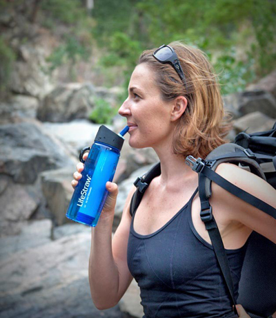 LifeStraw GO with sports bottle