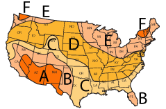 Solar Water Heater sizing map