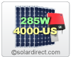 SolarWorld Grid-Tie Solar Electric System with 285W Panels & Sunny Boy 4000TL-US Central Inverter. 1.99 to 4.56 kW. FREE SHIPPING