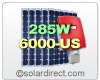 SolarWorld Grid-Tie Solar Electric System with 285W Panels & Sunny Boy 6000TL-US Central Inverter. 3.42 to 7.98 kW. FREE SHIPPING