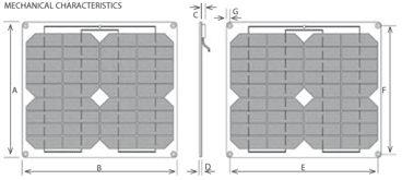 sol charger photovoltaic module characteristics