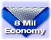 8mil Economy Pool Cover, Blue-Aluminum SpaceAge with Round Bubbles
