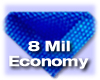 8mil Economy Pool Cover, Blue-Blue with Round Bubbles