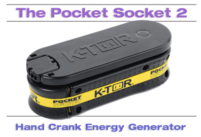The Pocket Socket Hand Crank Energy Generator and Charger