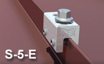 S-5! Non-Penetrating Double Folded Metal Roof Seam Clamp - Model S-5-E Mini