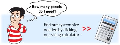 Solar Pool Heater Sizing Calculator - determine the number of panels needed.