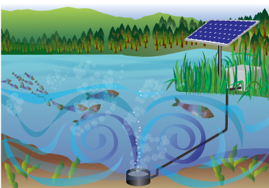 Solaer Solar Powered Lake And Pond Aeration System
