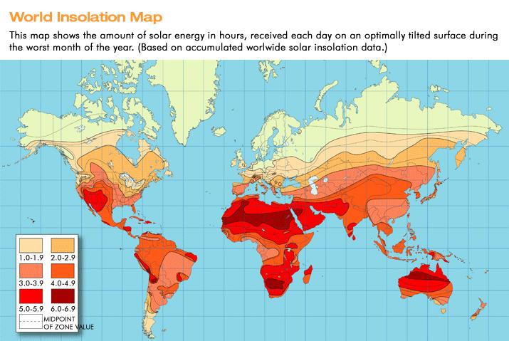 solar insolation map