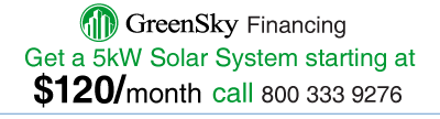 Get a 5kW solar electric system starting at $120 per month.