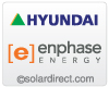 Grid-Tie Solar Electric System with Hyundai 280W Panels and Enphase M250 MicroInverters - FREE SHIPPING