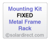 Mounting Kit - Fixed, Metal Frame Rack - for Solar Water Heater Systems, Model MK-CR-F-M