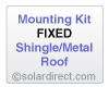Mounting Kit - Fixed, Shingle/Metal Roof - for Solar Water Heater Systems, Model MK-CR-F-S/M