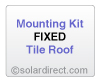 Mounting Kit - Fixed, Tile Roof - for Solar Water Heater Systems, Model MK-CR-F-T
