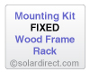 EP Mounting Kit - Fixed, Wood Frame Rack - for Solar Water Heater Systems, Model MK-EP-F-W