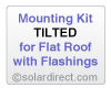 Mounting Kit - Tilted, Flat Roof w/Flashings - for Solar Water Heater Systems, Model MK-CR-T-FF