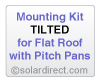 Mounting Kit - Tilted, Flat Roof w/Pitch Pans - for Solar Water Heater Systems, Model MK-CR-T-FP