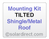 AET Mounting Kit - Tilted, Shingle/Metal Roof - for Solar Water Heater Systems, Model MK-AE-T-S/M
