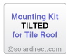 AET Mounting Kit - Tilted, Tile Roof - for Solar Water Heater Systems, Model MK-AE-T-T