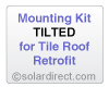 Mounting Kit - Tilted, Tile Roof Retrofit - for Solar Water Heater Systems, Model MK-CR-T-T-R
